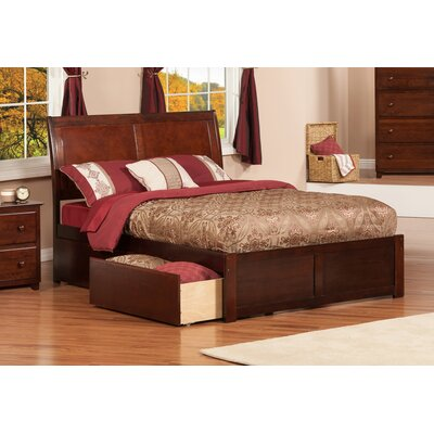 Brookline Storage Platform Bed Size: Queen, Finish: Antique Walnut