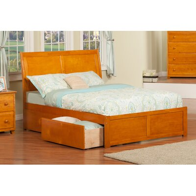 Deandre Traditional Storage Platform Bed Size: Queen, Finish: Caramel Latte