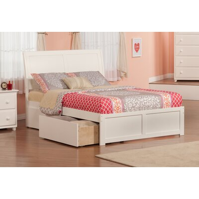 Deandre Traditional Storage Platform Bed Size: Twin, Finish: White