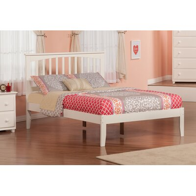 Brookline Platform Bed Size: Full, Finish: White