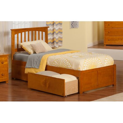 Deandre Traditional Wood Storage Platform Bed Size: Twin, Finish: White