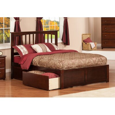 Deandre Storage Platform Bed Color: Antique Walnut, Size: Twin