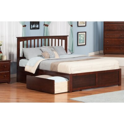Deandre Traditional Wood Storage Platform Bed Finish: Antique Walnut, Size: Queen