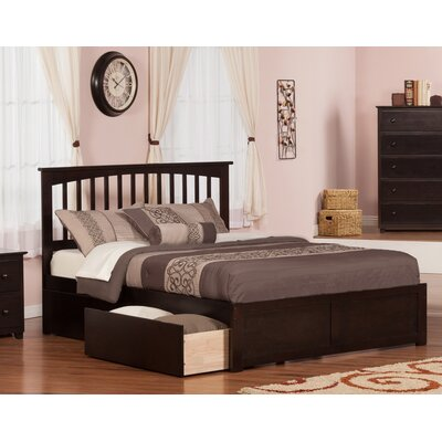 Deandre Traditional Wood Storage Platform Bed Finish: Espresso, Size: Queen