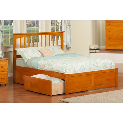Deandre Traditional Wood Storage Platform Bed Finish: Caramel Latte, Size: Full