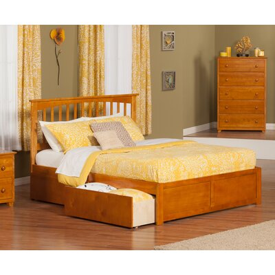 Deandre Traditional Wood Storage Platform Bed Finish: Caramel Latte, Size: Queen