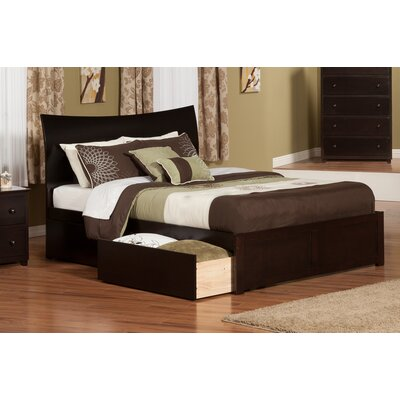 Deandre Storage Platform Bed Color: White, Size: Queen