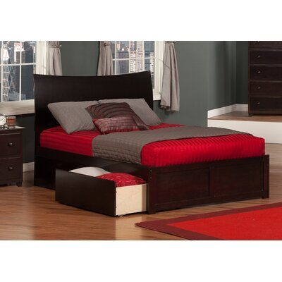 Deandre Storage Platform Bed Color: Espresso, Size: Twin