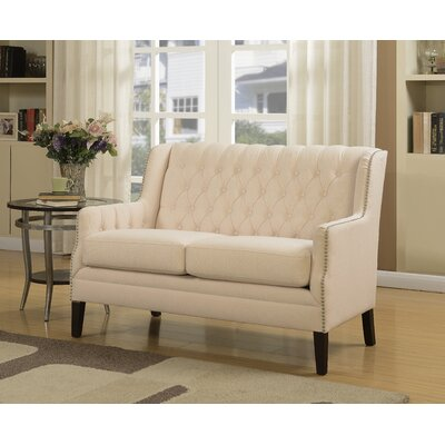 Brownsburg Tufted Settee Upholstery: Ivory