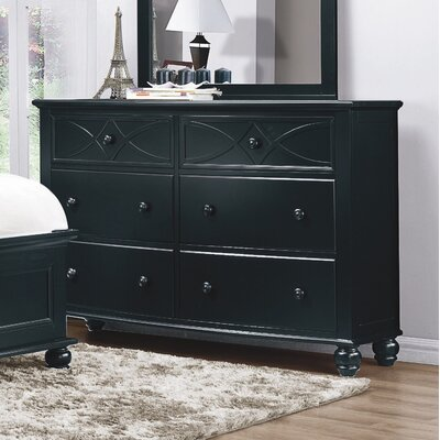 Zee 6 Drawer Dresser Color: Black