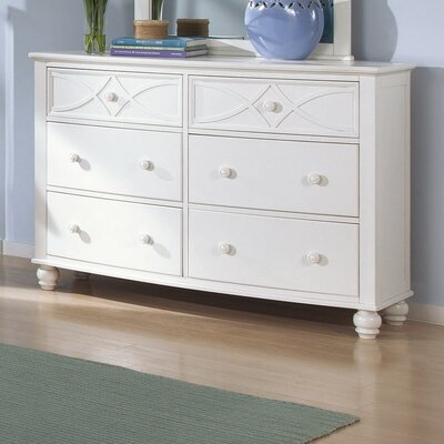 Brookstonval 6 Drawer Dresser Finish: White