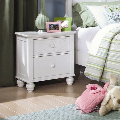 Hanning 2 Drawer Nightstand Color: White