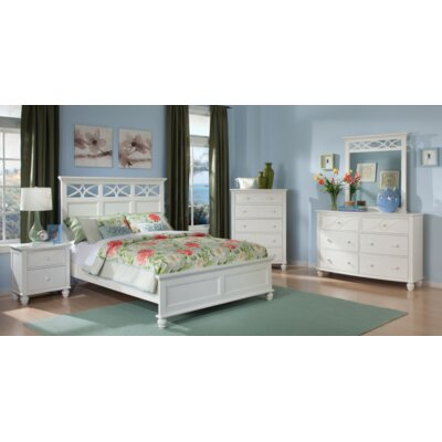 Hanning Panel Bed Size: California King, Color: White
