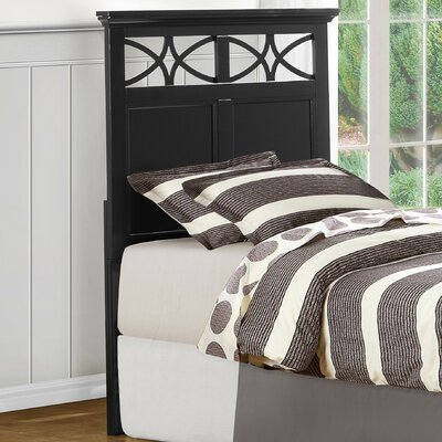Zee Panel Headboard Size: Twin, Color: Black