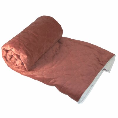 Dawson Micromink Embroidery Throw Blanket Color: Rust