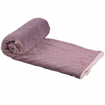 Buren Micromink Embroidery Throw Blanket Color: Lilac