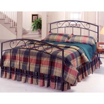 Bush Creek Panel Bed Size: Full, Color: Black