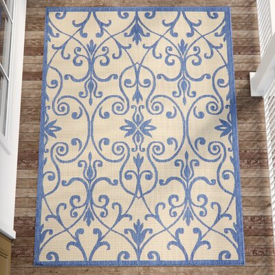 Hoyne Blue Outdoor Area Rug Rug Size: Square 6