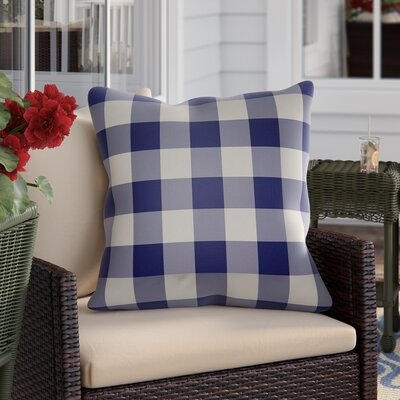 Travers Indoor Outdoor Throw Pillow Size: 18 H x 18 W x 4 D, Color: Blue/Neutral