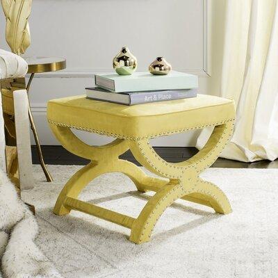Weybossett Ottoman Upholstery: Yellow