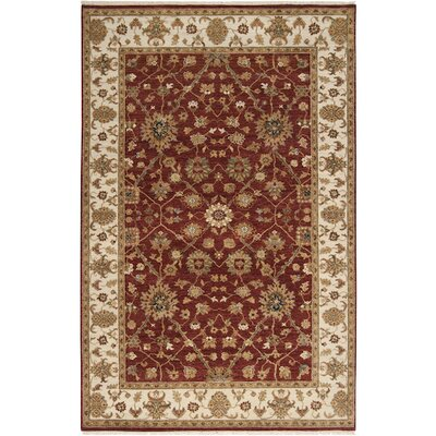 Derosier Brown/Red Area Rug Rug Size: 56 x 86