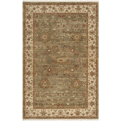 Derosier Asparagus Green Area Rug Rug Size: Rectangle 5'6