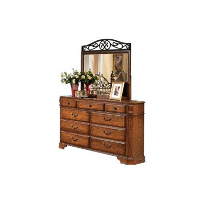 Banstead 9 Drawer Dresser with Mirror