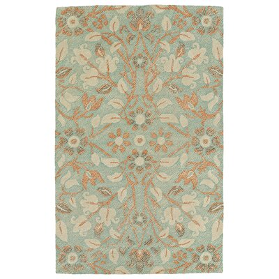Barker Ridge Handmade Turquoise Indoor/Outdoor Area Rug Rug Size: Rectangle 8 x 10