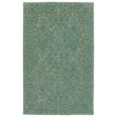Barker Ridge Handmade Turquoise Indoor/Outdoor Area Rug Rug Size: 5 x 76