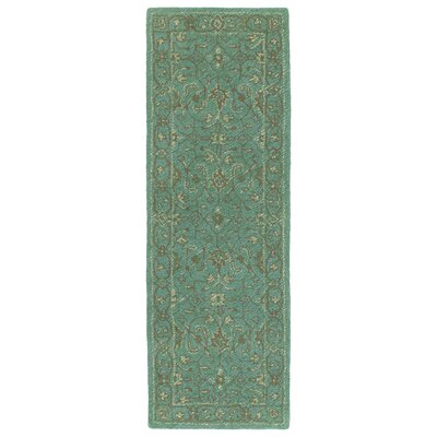 Dittmar Handmade Turquoise Indoor/Outdoor Area Rug Rug Size: Rectangle 5 x 76