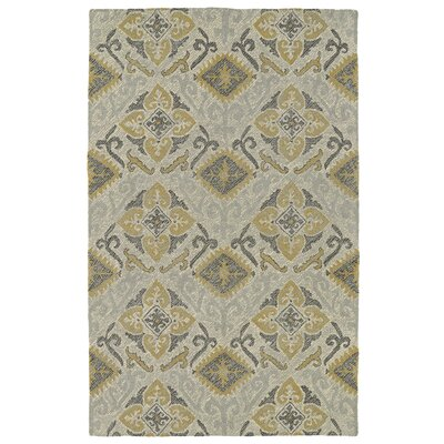 Dittmar Handmade Spa/Gold Indoor/Outdoor Area Rug Rug Size: 4 x 6
