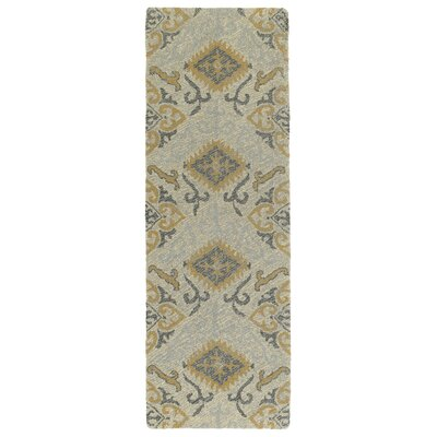 Dittmar Handmade Spa/Gold Indoor/Outdoor Area Rug Rug Size: Runner 3 x 10