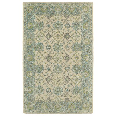 Dittmar Handmade Teal Indoor/Outdoor Area Rug Rug Size: 4 x 6