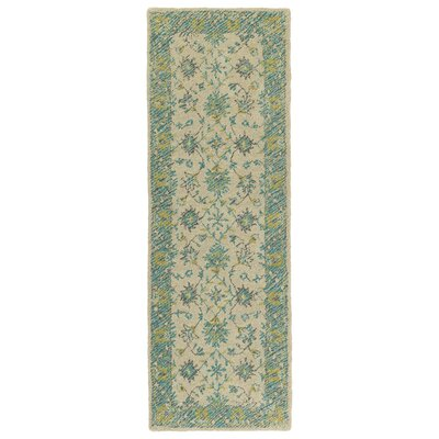 Dittmar Handmade Teal Indoor/Outdoor Area Rug Rug Size: Runner 2 x 6