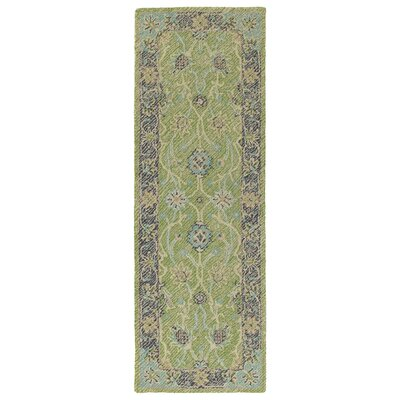 Dittmar Handmade Lime Green Indoor/Outdoor Area Rug Rug Size: Runner 2 x 6