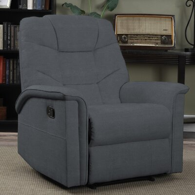 Timothy Manual Glider Recliner Upholstery: Gray
