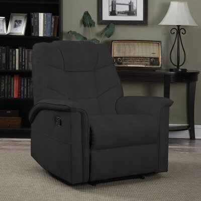 Timothy Glider Recliner Upholstery: Black