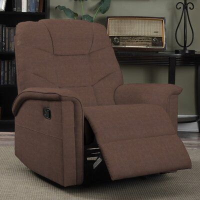Timothy Glider Recliner Upholstery: Dark Brown
