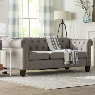 Trevino  Chesterfield Sofa Upholstery: Beige