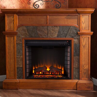 Gaskins Market Electric Fireplace Finish: Oak