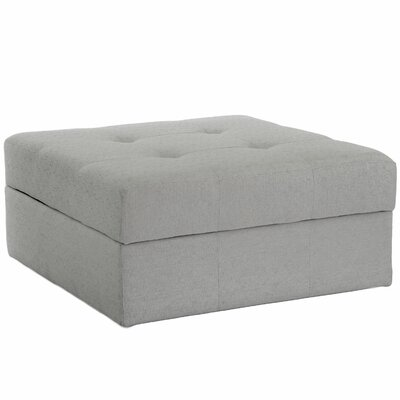Baronets Storage Ottoman Upholstery: Light Gray