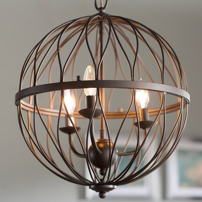Brittain 3-Light Globe Pendant Finish: Oil Rubbed Bronze