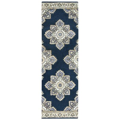 Valley Hand-Tufted Indigo Area Rug Rug Size: Runner 2'6