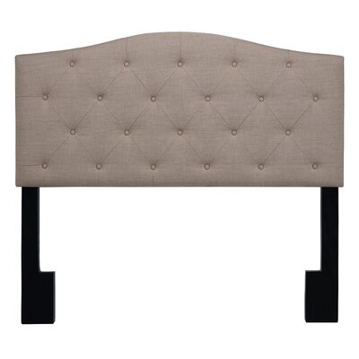 Buterbaugh Uphostered Panel Headboard Upholstery: Almond Beige, Size: King