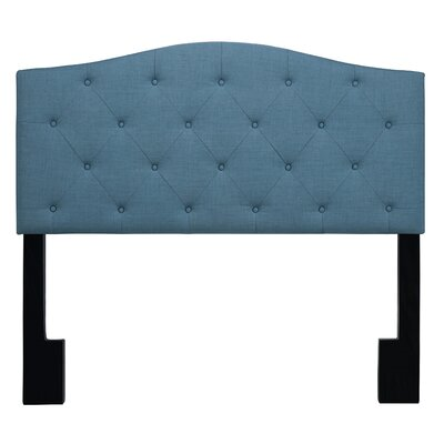 Buterbaugh Uphostered Panel Headboard Size: Full/Queen, Upholstery: Capri Blue