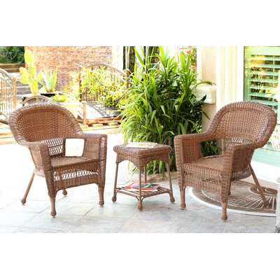 Burrough 3 Piece Lounge Seating Group Finish: Honey
