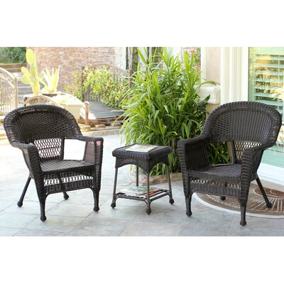 Burrough 3 Piece Lounge Seating Group Finish: Espresso