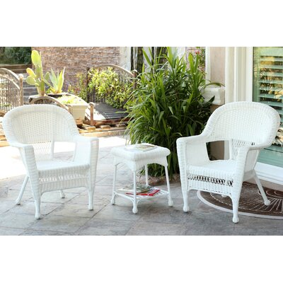 Burrough 3 Piece Lounge Seating Group Finish: White