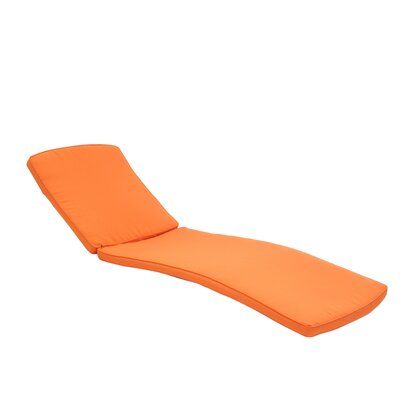 Outdoor Chaise Lounger Cushion Color: Orange