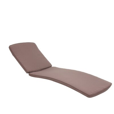 Outdoor Chaise Lounger Cushion Color: Brown